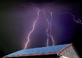 Blitzschutz zum Schutz der Photovoltaikanlage